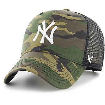 47 Brand Trucker Cap - BRANSON New York Yankees wood camo