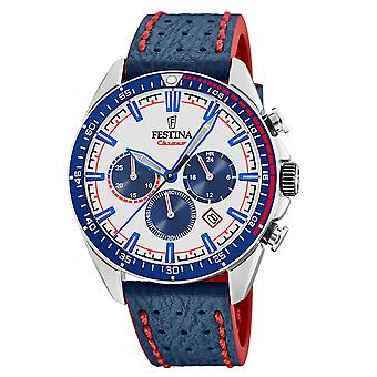 Festina F20377-1 Hombres's Blue Strap Chronograph reloj de pulsera