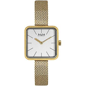 M & M Tyskland M11951-212 fyrkantig linje damer klocka