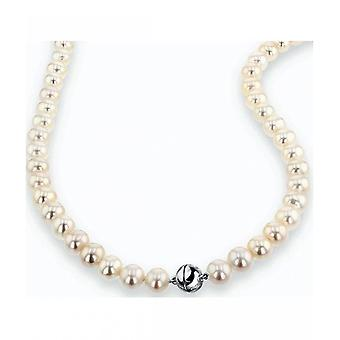 Luna-Pearls Pearl Collier Freshwater Pearls 8.5-9 mm 925 Silver Rhodiumplated 2035951