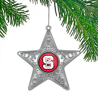 NC State Wolfpack NCAA Sports Collectors Series Silver Star Ornament