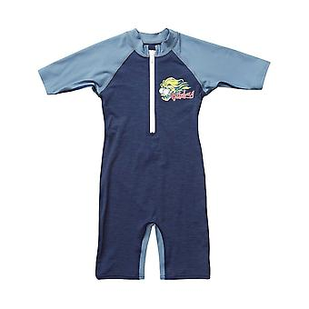 Billabong Shreddy peuter Sunsuit in Navy Heather