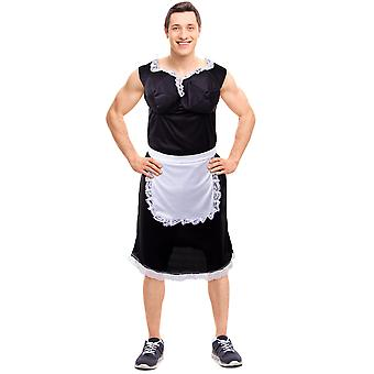 Busty French Maid Costume, XXL