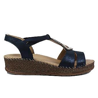 Ara Marrakesch 17732-02 Blue Womens Strappy Wedge Sandals
