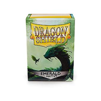 Dragon Shield Matte - Esmeralda 100ct. en caja (Pack de 10)