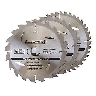TCT Lame a sega circolare 20 24 40T 3pk - 190x30 - 25 anelli da 20mm
