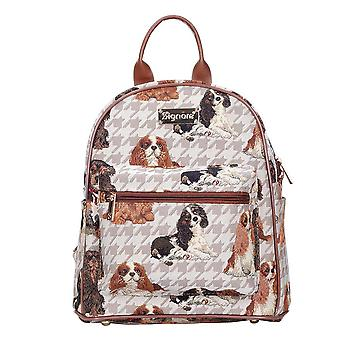 Cavalier king charles spaniel casual daypack by signare tapestry / dapk-kgcs