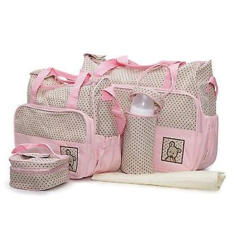 Moni wrap bag Stella, set with wrapping pad, insulated bag for baby bottles