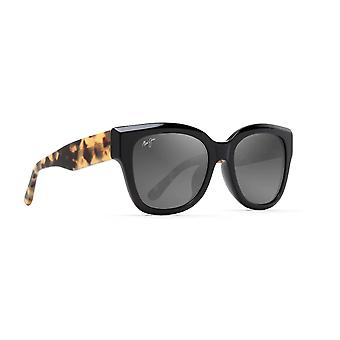 Maui Jim Siren Song GS801 02B Gloss Black with Tokyo Tortoise/Neutral Grey Sunglasses
