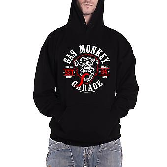 Officiel Mens Gas Monkey Garage Hoodie Round Seal Logo Kustom Builds new Black