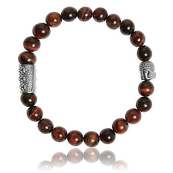 Lauren Steven Design ML042 Bracelet - Natural Stone Bracelet Eye of Red Tiger Men