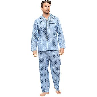 Mens pflegeleichten Polycotton Classic lange Pyjama Loungewear