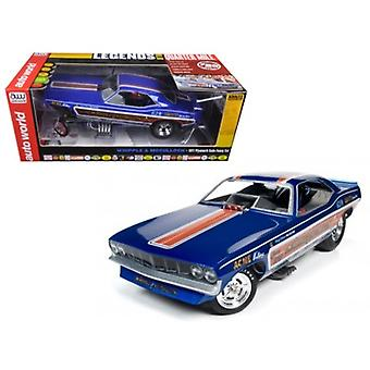 Whipple & McCullough 1971 Plymouth Cuda Funny Car (Ed McCullough) Limited Edition to 750pcs 1/18 Model Car by Autoworld