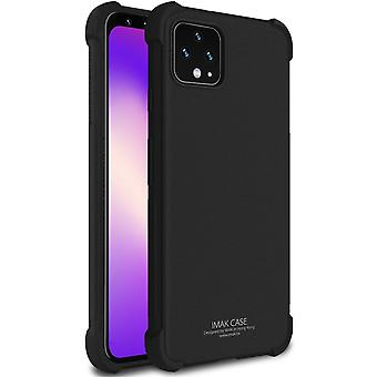 For Google Pixel 4 IMAK All-inclusive Shockproof Airbag TPU Case, Frosted Black