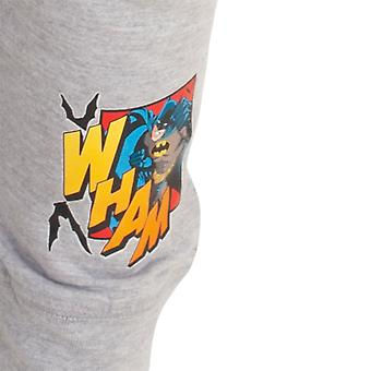 Batman Childrens/Kids Comic Long Top And Bottoms Pyjamas
