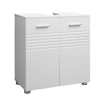 White washbasin cabinet with 2 doors