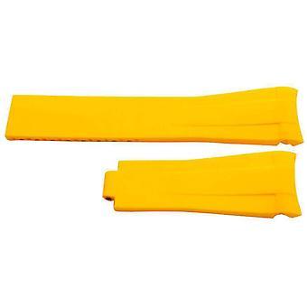 Kumikellohihna rolex gmt osteri & omega seamaster keltainen 20mm