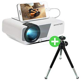 BYINTEK Sky K1 Plus LED Projector & Tripod - Beamer Home Media Players