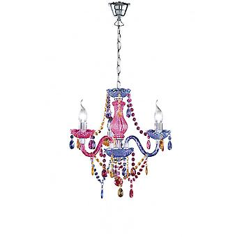 Trio Lighting Luster Young Living Multicolor Acryl Chandelier