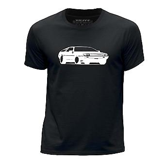 STUFF4 Boy rotondo collo T-Shirt/Stencil auto Art / DeLorean/Black
