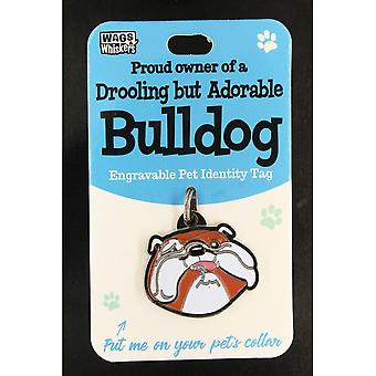 Wags & Whiskers Pet Identity Tag - Bulldogge
