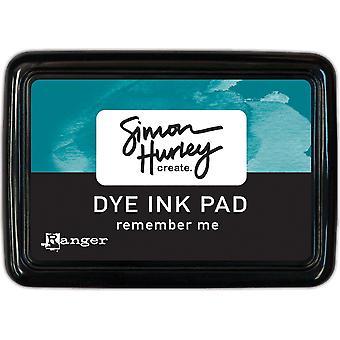サイモン・ハーリーが作成します。染料インクパッド - 私を覚えておいてください