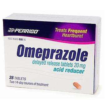 Perrigo omeprazole, 20 mg, delayed release tablets, 28 ea