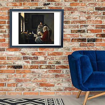Johannes Vermeer - Girl Interrupted at Her Music Poster Print Giclee