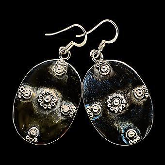 """Floral Muster Ohrringe 1 3/4 """" (925 Sterling Silber) - handgemachte Boho Vintage Schmuck EARR400376"""