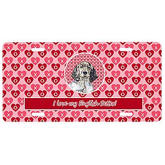 Carolines Treasures LH9142LP English Setter Valentine's Love and Hearts License