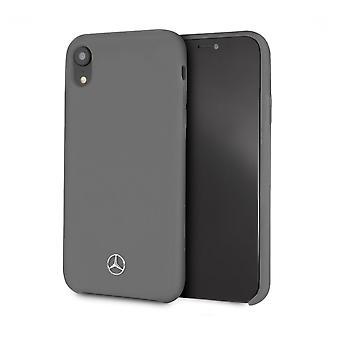 Mercedes-Benz Plain Backcover Case iPhone XR – Grau