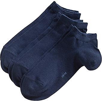 Esprit blocco solido colore Sneaker 3 Pack Socks - Marina militare