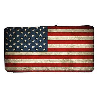 Samsung S8 rústico EE.UU. bandera cartera caso con la cáscara de la imagen