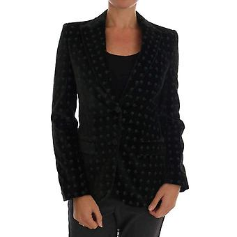 Dolce & Gabbana groen geborduurd fluweel Blazer Jacket--DR12053808