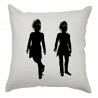 Silhouette Cushion Cover 40cm x 40cm Indians