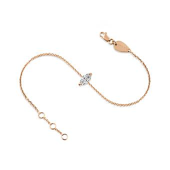 Anklet Diamond Marquise-cut 18K Gold - Rose Gold