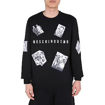 Moschino 170570271555 Herren's schwarze Baumwolle Sweatshirt
