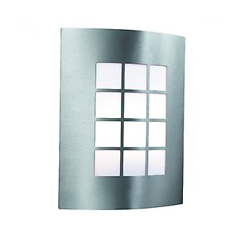Wall Lamp 27 Cm Outdoor Lights, In Stainless Steel And Polycarbonate