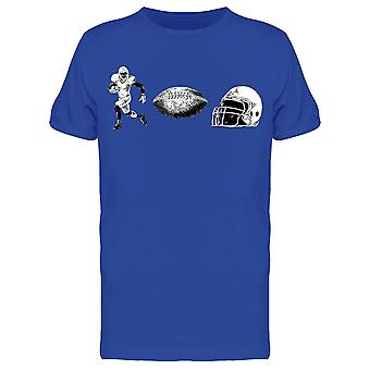 Football Player, Ball And Helmet Tee Men's -Image by Shutterstock