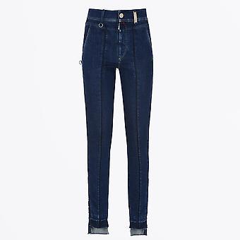 HIGH - Concise - Mid Blue Slim Leg Jeans
