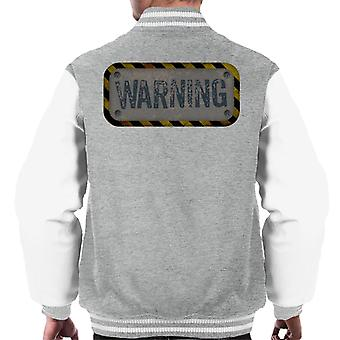 The Crystal Maze Warning Men's Varsity Jacket