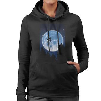 E.T. Flying Bicycle Movie Poster Women's Hooded Sweatshirt