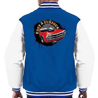 Fast and Furious Car Splatter Men's Varsity Jacket
