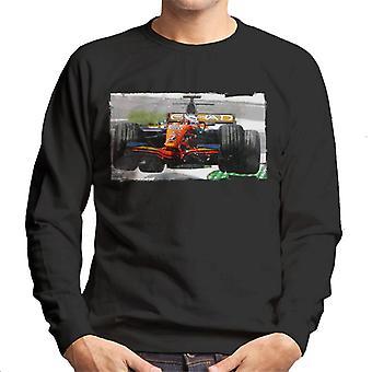 Motorsport Bilder Sutil Spyker F8 Ferrari Airborne Men's Sweatshirt