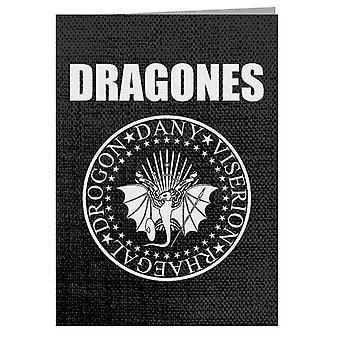 Dragones Ramones Game Of Thrones Greeting Card