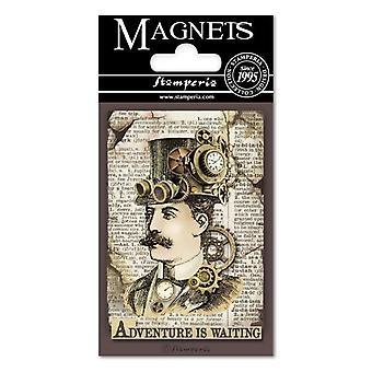 Stamperia Voyages Fantastiques Man 8x5.5cm Magnet