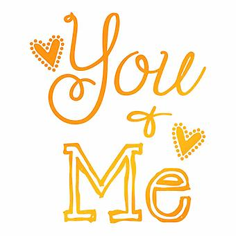 Ultimate Crafts Hotfoil Stamp You and Me (1.9 x 2.2in) (ULT158087)