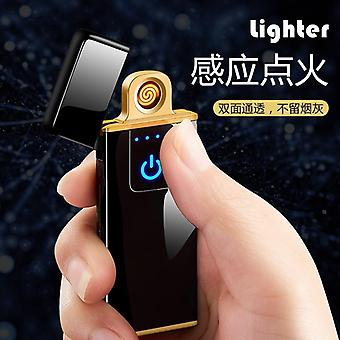 Fingerprint Induction Lighter Charging Windproof Creative Personality Male Tide