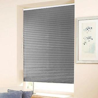 Self Adhesive Pleated Blinds Half Blackout Windows Curtains For Kitchen,