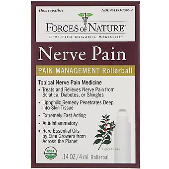 Forces of Nature, Nerve Pain, Pain Management, Rollerball, 0.14 oz (4 ml)